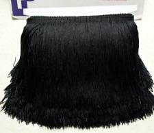 Black 15cm Braid Trim Tassel Fringe Lace Price per 30cm DIY Craft Clothing Decor