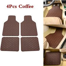 Universal Car Floor Mats Front & Rear Carpet Auto Mat Coffee Waterproof For Cars