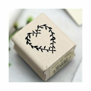 East of India RUBBER STAMP HEART #3765