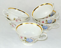 LOT OF 6 - FAVOLINA CHINA (POLAND) TEA COFFEE CUPS
