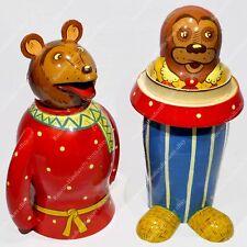 """8 2/3"""" GOLDILOCKS AND THE THREE BEARS RUSSIAN NESTING DOLLS MATRYOSHKA 4PCS"""