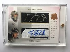 2009-10 The Cup Marc Andre Fleury / Evgeni Malkin Dual Scripted Swatches Auto /5