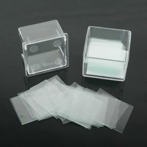100 x New Blank Microscope Square Cover Glass Coverslip Slides Lab Set 22X22mm
