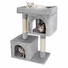 Cat Trees Condo Furniture Kitten Plush Tower Cat House Sisal Scratching Posts