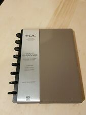 TUL Custom Note Taking System Discbound Leather Notebook Junior Size Gray