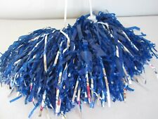 Pair of Blue and Silver Pom Poms Cheerleading Dance Costumes Halloween