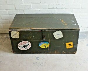 Reclaimed Pine Carpenters Chest Trunk Storage Box ~ Coffee Table (Can Deliver)