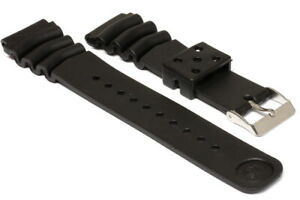 Rubber Diver strap for Seiko 7002 and 6309, 7S26 Large Diver, 22mm         -9655
