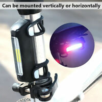 USB Rechargeable 7 Modes Police Cycling Bike Flashlight Bicycle Tail Light Torch
