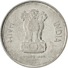 [#86928] INDIA-REPUBLIC, 10 Paise, 1989, KM #40.1, AU(55-58), Stainless Steel