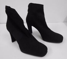 Moda in Pelle Black High Heel Stretch Ankle Boots - Boxed, UK Size 7, EUR 40