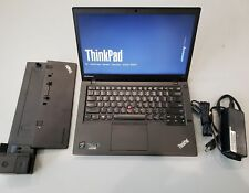 ThinkPad T440 i5 8GB 128GB SSD WiFi WebCam 1600x900 Win 10 Office 2019 Dock