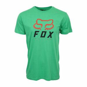 FOX RACING MENS HERITAGE GREEN T SHIRT
