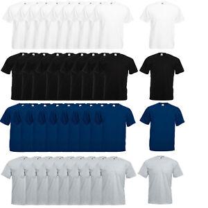 5 er / 10 er Set Fruit of the Loom T-Shirt Baumwolle S M L XL XXL 3XL 4XL 5XL