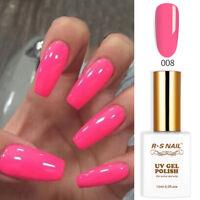 RS Nail Gel Nail Polish UV LED Varnish Soak Off Neon Colours 15ml 008