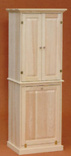 NEW AMISH HANDMADE Unfinished Solid Pine | LAUNDRY CABINET | Rustic Primitive!