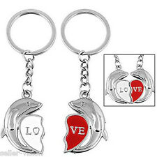 Magnetic Dolphin Couple Key Chain Ring Keyring Keyfob Love Gifts Couples Partner