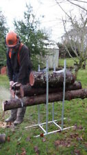 Log saw Horse wood Log Holder Metal for CHAINSAW CUTTING