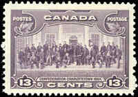 Mint Canada 13c 1935 F-VF Scott #224  KGV Pictorial Issue Stamp Hinged