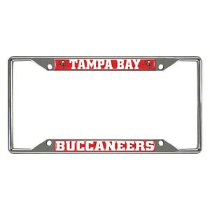 Fanmats NFL Tampa Bay Buccaneers Chrome Metal License Plate Frame Del. 2-4 Days