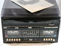 VINTAGE Sears AM FM Stereo Cassette Player Record SyStem 304.91860 550 Series