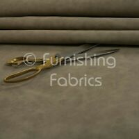 Aged Heritage Look Soft Faux Suede Leatherette Material Upholstery Fabric Stone