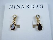 Earrings with Swarovski Crystals 0765 Nina Ricci Gold Plated Clip-on