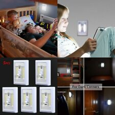 2 LED Battery Operated Switch Night Light Children's Bedroom Reading Wall Lights