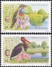 Hungary 2000 National Parks/Bluethroat/Stork/Iris/Flowers/Birds/Nature 2v n45216