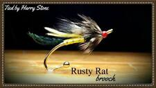 Rusty Rat Salmon Fly Brooch