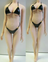 "1/6 Scale Female Black Bikini Bra Underpants Clothes Model for 12"" Action Figure"
