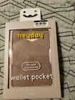 *New* Wallet Pocket For Cell Phone Heyday™ -  Holds 3 Cards - Beige/tan
