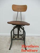Vintage Toledo Industrial Counter Swivel Bar Stool Chair #1
