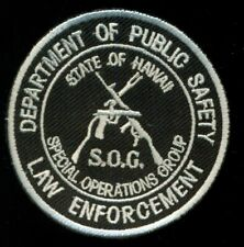 DPS Law Enforcement Police Hawaii SOG SWAT Special Operations Group Patch CT3