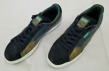 Mens Size 10.5 Blue Gold Puma Suede Classic Colorburn Sneaker 357104 04 preowned