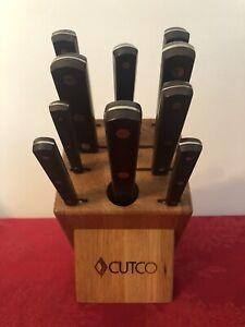 RARE AMAZING 1ST GENERATION RETRO LOVERS CUTCO HOMEMAKER KNIFE BLOCK SET 11 piec