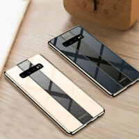 Shockproof Tempered Glass Case Cover For Samsung Galaxy S9 S10 Note 8 9 Soft TPU