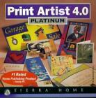 Print Artist 4.0 Platinum PC MAC CD text effects layouts graphic publishing tool