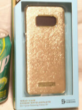NEW KATE SPADE NEW YORK N.Y. SAMSUNG GALAXY S8 TEXTURED GOLD PHONE WRAP CASE USA