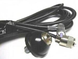 CB Antenna Mount DV DV27 Straight 3/8 Base 4M RG58 Coax Lead & Fitted PL259