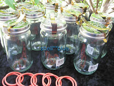 TEN COMPLETE #20 Fowlers Vacola **STAINLESS LID** Ring Clip Preserving Jars NEW