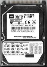 TOSHIBA MK3018GAS HDD2169 B ZE01 T 30GB ATA/IDE HARD DRIVE