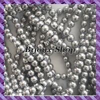 1 Fil de 50 pcs Perles Hématite (Non Magnétique) 8mm coloris argent