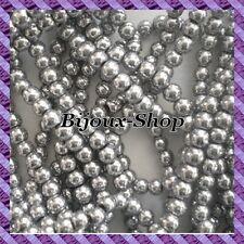 1 Fil de 100 pcs Perles Hématite (Non Magnétique) 4mm coloris argent