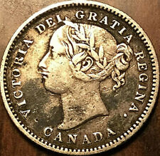 1881H CANADA SILVER 10 CENTS - Obv#1 variety - Scarce!