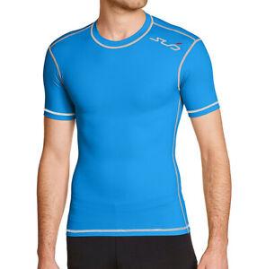 Sub Sports Dual Compression Baselayer Mens Short Sleeve Top - Blue