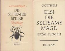 Jeremias Gotthelf: Erzählungen  (Reclam-UB, 2 Bändchen)   1957-1959