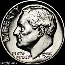 1955 Roosevelt Dime ~ Gem Proof Uncirculated ~ 90% Silver Us Coin Mq