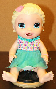 🍼2015 Baby Alive Super Snacks Snackin Lily Blonde Good Condition