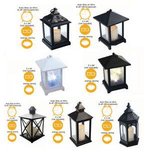 Moroccan Flickering LED Candle Battery Lantern Light Home-ware Decor Lamp Modern